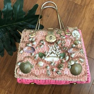 Handbags - Vintage mermaid pink handbag